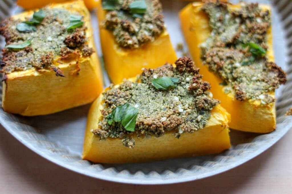 vegan pesto pumpkin