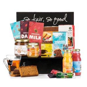 Stel zelf een ontbijtmand samen met bio en fairtrade producten