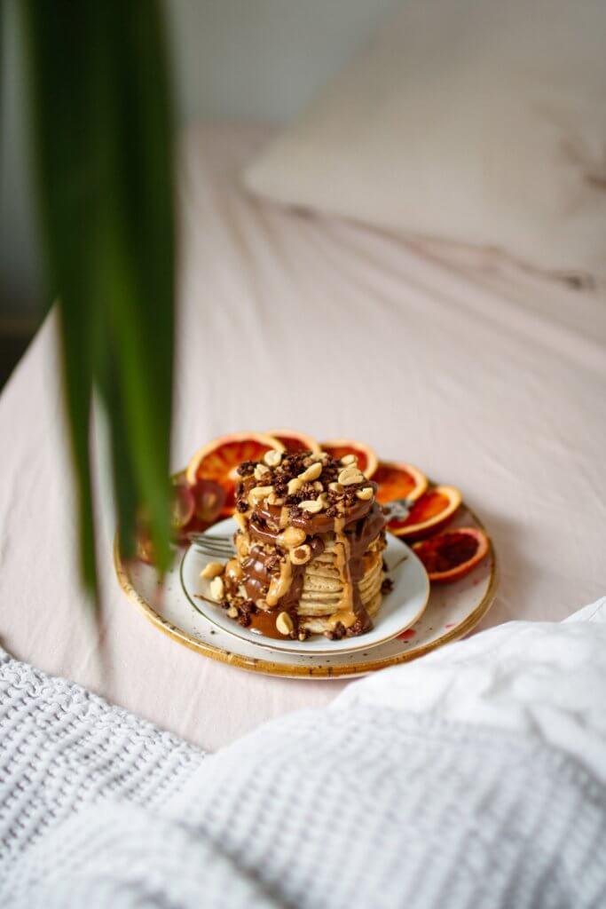 peanutbutter chocolate pancakes